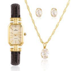 Relógio Feminino Champion Analógico CH28380W Kit Colar e Par de Brincos 52036