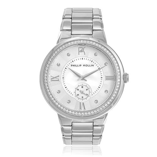 Relógio Feminino Phillip Kollin St. Maarten Silver White Ref ZY28172Q Prata
