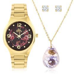 Relógio Feminino Allora Analógico AL2035FAF/K4G Dourado