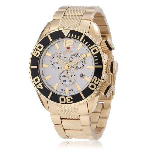 Relógio Masculino Swiss Precimax Ref SP12167 Dourado