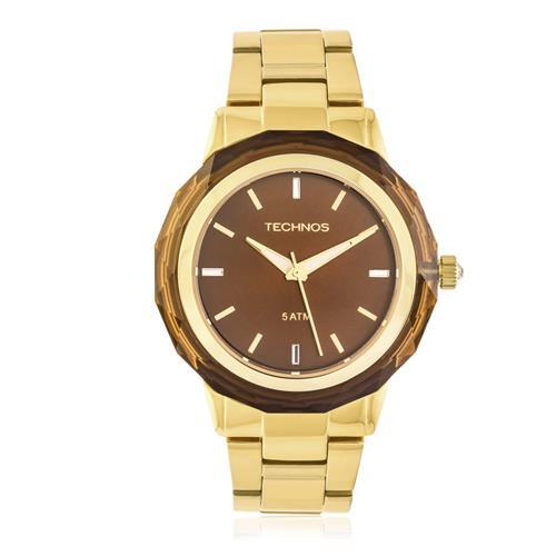 Relógio Feminino Elegnace Crystal  52428 Dourado