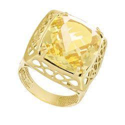 Anel Trabalhado com Green Gold, Folheado a Ouro Amarelo