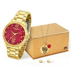 Relógio Feminino Mondaine Analógico 99128LPMKDE9K1 Dourado Áries