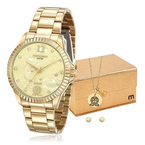 Relógio Feminino Mondaine Analógico 99128LPMKDE7K1 Dourado Leão