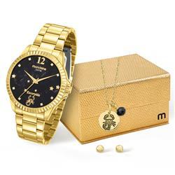 Relógio Feminino Mondaine Analógico 99128LPMKDE6K1 Dourado Escorpião