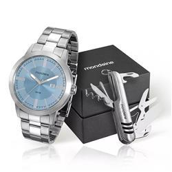 Relógio Masculino mondaine analógico 78698G0MVNA1K1 Aço