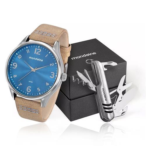 Relógio Masculino mondaine analógico 76622G0MVNH1K1 em couro