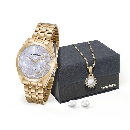 Relógio Feminino Mondaine Analógico 99164LPMVDE2K5 Aço dourado