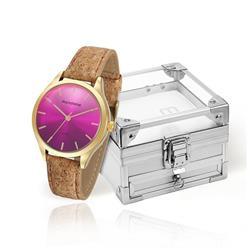 Relógio Feminino Mondaine Analógico 76641LPMVDH2K5 Em couro