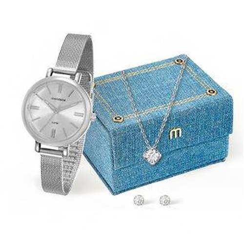 Relógio Feminino Mondaine Analógico 76616L0MVNE1K1 pulseira esteira