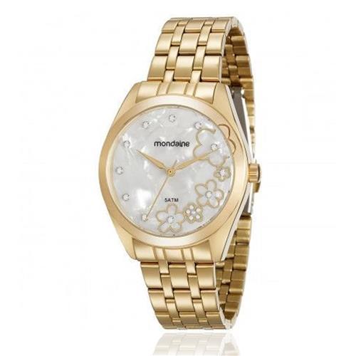Relógio Feminino Mondaine Analógico 99164LPMVDE1K5 Dourado  53329