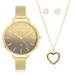 Relógio Feminino Mondaine Analógico 53618LPMKDE2K1 Dourado