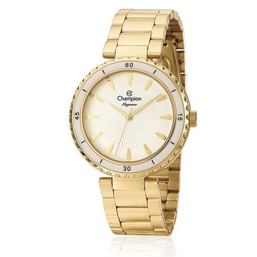 Relógio Feminino Champion Elegance Analógico CN27438H Dourado