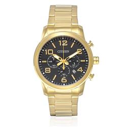 Relógio Masculino Citizen Analógico TZ20297U Dourado com Fundo Preto