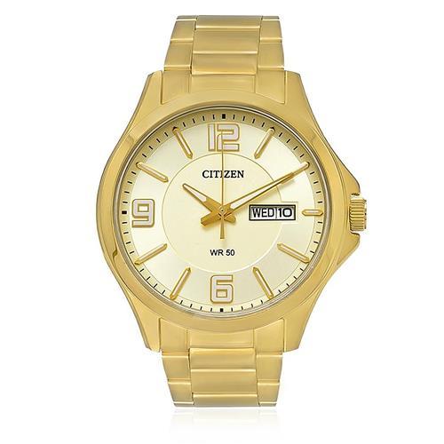 Relógio Masculino Citizen Analógico TZ20537G Dourado