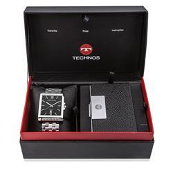 Relógio Masculino Technos Classic Executive Analógico 2115KOD/K1P Porta Cartões