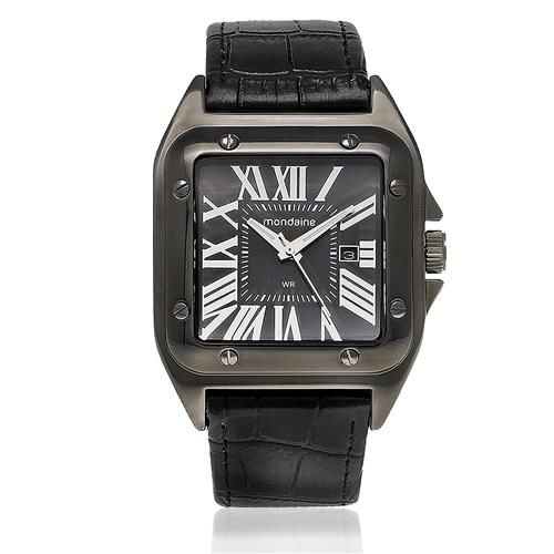 Relógio Masculino Mondaine Analógico 76489GPMVPH1 Aço Preto