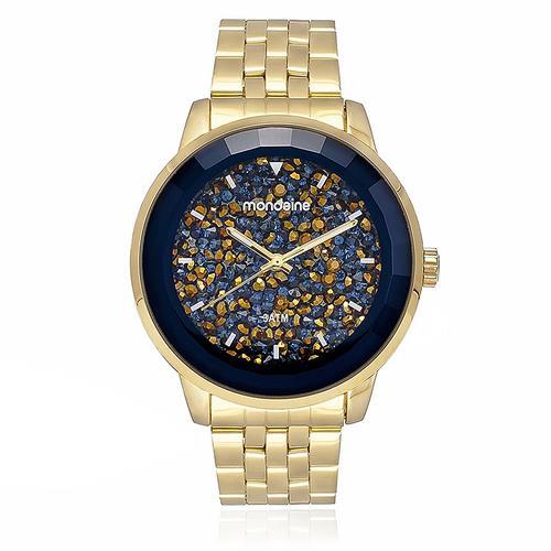 Relógio Feminino Mondaine Analógico 94713LPMVDE3 Fundo Azul