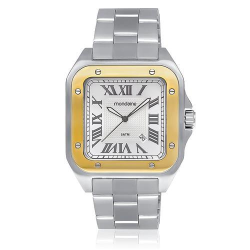 Relógio Masculino Mondaine Analógico 78624GOMVNA1 em aço com algarismos romanos