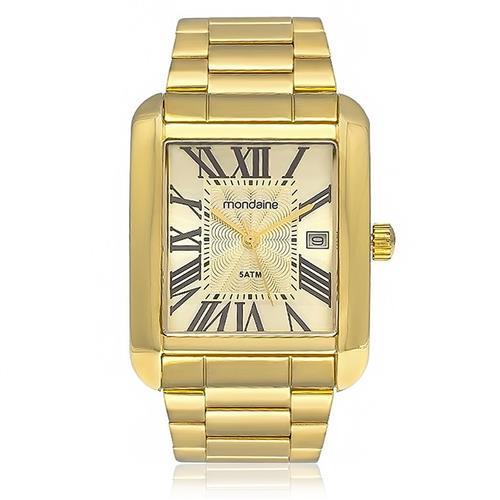 Relógio Masculino Mondaine Analógico 78623GPMVDA2 Dourado com algarismos romanos