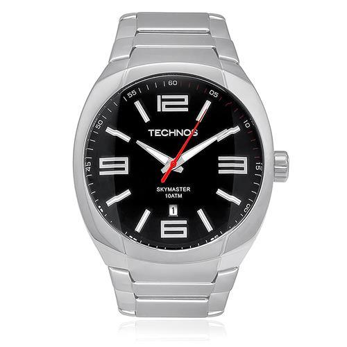 Relógio Masculino Technos Skymaster Analógico 2115GS/1P Aço