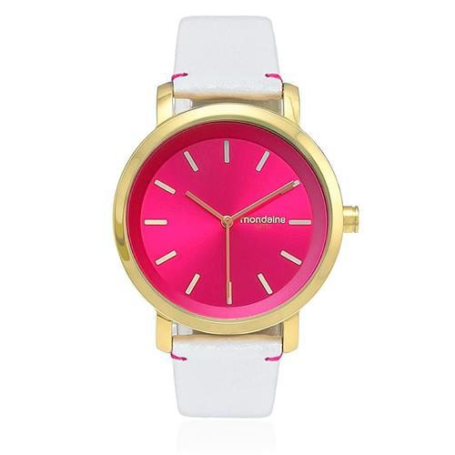 Relógio Feminino Mondaine Fashion Analógico 94767LPMVDH2 Fundo Rosa