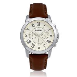 Relógio Masculino Fossil  Analógico FFS4735/Z Couro Marrom