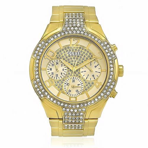 Relógio Feminino Guess Analógico 92574LPGSDA1 Dourado com Cristais