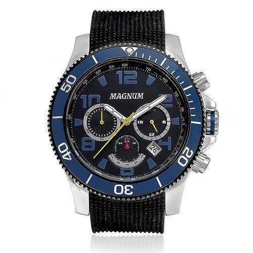 Relógio Masculino Magnum Analógico MA33308A Catraca Azul