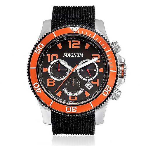 Relógio Masculino Magnum Analógico MA33308J Catraca Vermelha