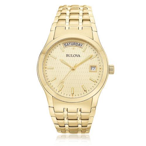 Relógio Masculino Bulova Analógico WB21007G Aço Dourado