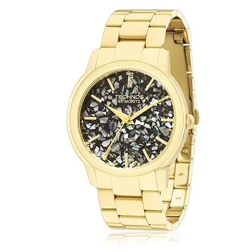 Relógio Feminino Technos Elegance St. Moritz Analógico 2036LNT/4P Dourado