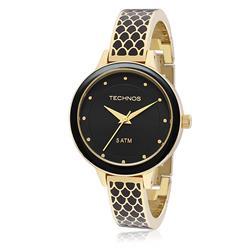 Relógio Feminino Technos Fashion Unique Analógico 2035MBY/4P Dourado com detalhes pretos