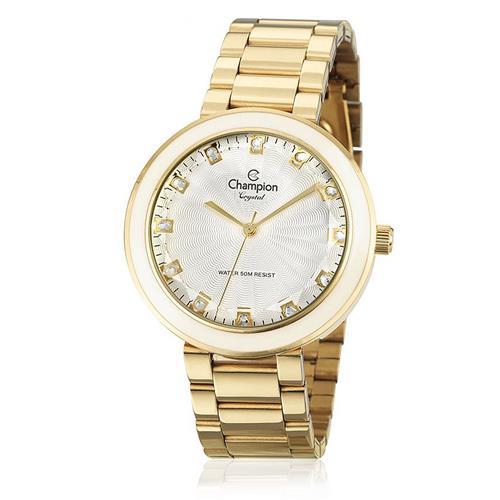 Relógio Feminino  Champion Crystal Analógico CN29972H Dourado