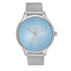 Relógio Feminino Mondaine Analógico 76520L0MVNE3 Fundo Azul