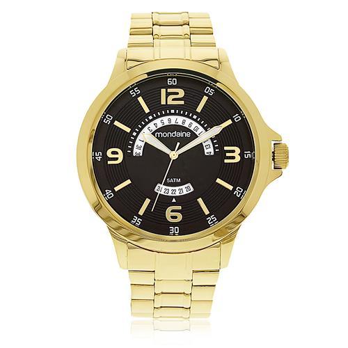 Relógio Masculino Mondaine Analógico 78645GPMVDA1 dourado com calendário