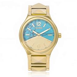 Relógio Feminino Euro Turquesa Analógico EU2033AE/K4D Dourado