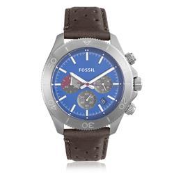 Relógio Masculino Fossil Retro Traveler Chronograph  CH2893/0AN Couro