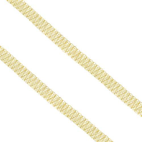 Gargantilha Malha Fios Entrelaçados em Ouro Amarelo