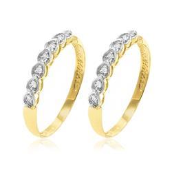 Par de Aparadores Gotinhas em ouro amarelo com 14 Diamantes