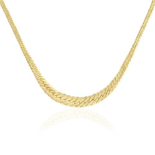 Corrente Feminina Malha Serpente, em Ouro Amarelo