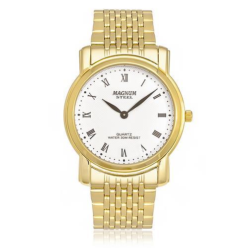 Relógio Masculino Magnum Analógico MA20367L Dourado