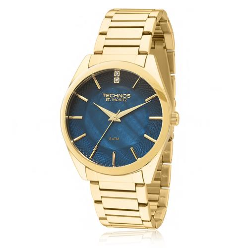 Relógio Feminino Technos Elegance St. Moritz Analógico 2036LOU/4A Dourado