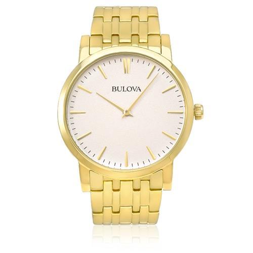 Relógio Masculino Bulova Analógico WB21669H Aço Dourado