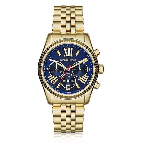 Relógio Feminino Michael Kors Analógico MK61655/4AN Dourado com Fundo Azul