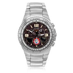 Relógio Masculino Citizen SkyHawk Esquadrilha da Fumaça Analógico TZ10146T Aço