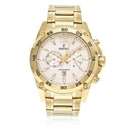 Relógio Masculino Festina Chronograph Analógico F16806 - 1 Dourado