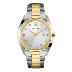 Relógio Feminino Bulova Analógico WB26064S Aço misto mostrador com cristais