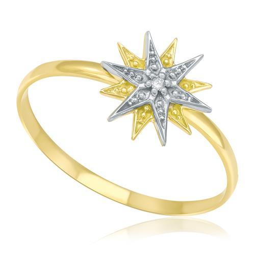 Anel Estrelas em Ouro Amarelo