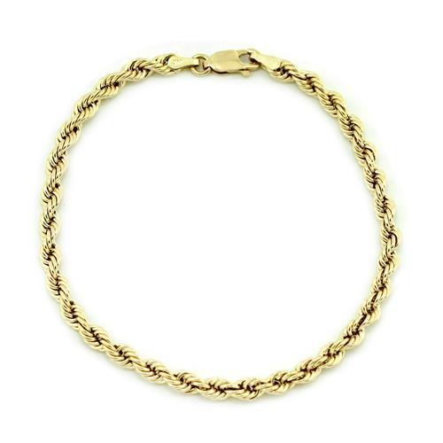 Pulseira Malha Corda em Ouro Amarelo